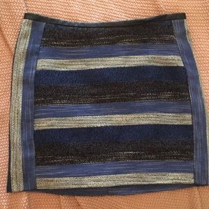 Blue stripe skirt